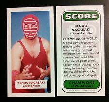 WRESTLING - KENDO NAGASAKI - Score Champions of World Sport trade card