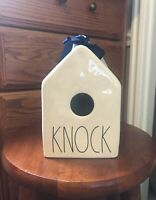 New Rae Dunn KNOCK Ceramic Birdhouse ! NWT LL