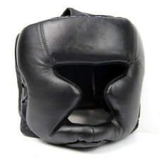 Sunny Black Good Headgear Head Guard Training Helmet Kick Boxing Protection Gear