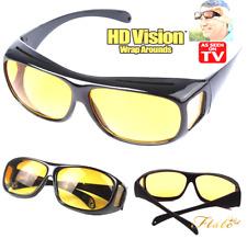 HD anti riflesso Visione Notturna Guida Occhiali Da Sole Unisex Sopra Avvolgere intorno occhiali X2