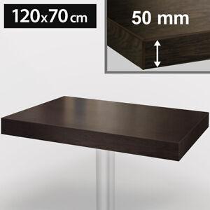 BRASIL   Bistro Tischplatte   120x70cm   Wenge-Schwarz   Rechteckig Holz Gastro