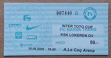Tickets Narva Estonia - Lokeren Belgium 2005