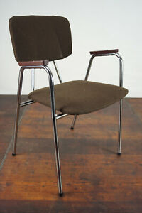 60er Vintage Armrest Chair Retro Dining Room Chair Stacking Chair Norway