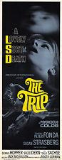 THE TRIP Movie POSTER 14x36 Insert Peter Fonda Susan Strasberg Bruce Dern Dennis