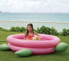 New  00004000 Pink & Green Turtle Inflatable Sprinkler Swimming Pool