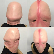 CO_ Funny Latex Head Mask Halloween Prank Joking 3D Penis Dick Party Cosplay Rel