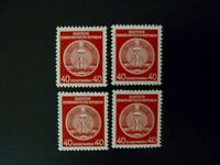 Germany GDR 1954-56 Lot of 4 #O25 BOB Official Stamps MNH - See Description