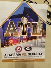 2018 College Football National Championship Game day Program-Alabama/Georgia