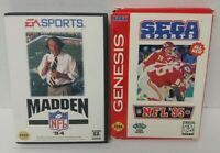 Madden 94 + Sega Sports Football 95 Sega Genesis Working Tested 2 Game Lot