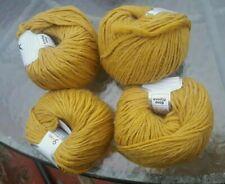 Four Skeins Ice Etno Alpaca Merino Wool/Alpaca Yarn In Goldenrod