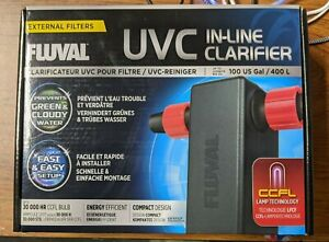 Fluval UVC In-Line Clarifier External Filter A203 NEW SEALED