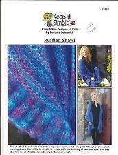 Ruffled Shawl Knitting Instruction Pattern Keep It Simple Barbara Selesnick NEW