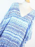 F&F Blue Geometric Womens Top Size XL (Regular)