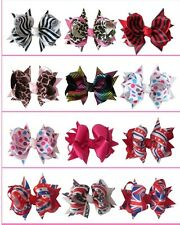 "Ring Hair Bow Clip Silver Zebra Ribbon 270 No. 50 BLESSING Good Girl 5.5/"" D"