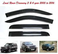 Land Rover Discovery 3 4 WINDOW DEFLECTOR VISOR VENT SHADE SUN GUARD BLACK -M110