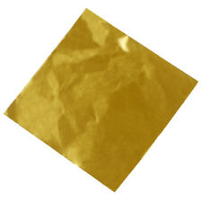 100pcs Candy Package Foil Paper Chocolate Lolly Foil Wrappers Square Gold W3M5