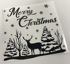 Merry Christmas Decal vinyl sticker Ikea Ribba Box Frame Gift DIY Stencil crafts