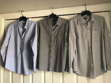 Trio of Classic Tailored Lands' End Women's Shirts Size 16