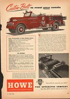 VINTAGE MAGAZINE AD #2-106 - 1950s HOWE FIRE APPARATUS COMPANY - FIRE TRUCK