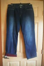 Natural Reflections Women's Size 12 Flannel Lined Jeans, NWOT
