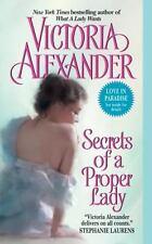 SECRETS Of A PROPER LADY Victoria Alexander LAST MAN STANDING #3 HISTORICAL ROMA