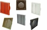 """4"""" 5"""" 6"""" Fixed Wall Ceiling Grille Bathroom Kitchen Shower Extractor Fan"""