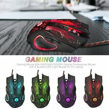 3200 Dpi Led Optical 6 Button Usb Wired Gaming Game Mouse Pro Mice for Pc Laptop
