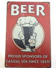 BEER CASUAL SEX  METAL TIN SIGNS  cafe pub brew garage retro