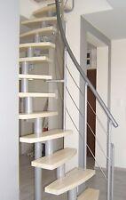 MINI Plus-Space Saver Spiral ,Loft Staircase Kit-Silver Metal-horizontal baniter