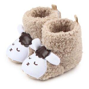 New Baby Girls Boys Winter Warm Coral  Booties Cute Cartoon Animal Style
