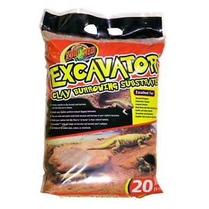 Zoo Med Excavator Clay Burrowing Substrate Reptiles Decor ZooMed