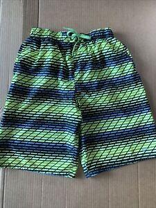 Nike Men's Swim Trunks / Board Shorts Black And Neon Yellow  Size Large