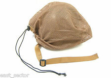 ORIGINAL MILITARY MESH HELMET1 STORAGE BAG SAND/TAN BRITISH ARMY  POUCH BACKPACK