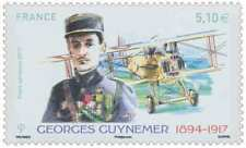FRANCE 2017_TIMBRE  NEUF** MNH LUXE GEORGES GUYNEMER 1894 - 1917 P.A. N° 81.