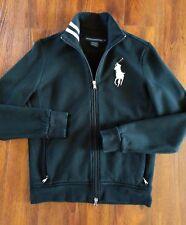 Polo Ralph Lauren Golf Big Pony Women's Black White Zip Up Jacket Size Large