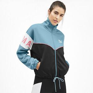 Puma XTG Track Jacket Women's Milky Blue Black Full Zip Active Wear Top