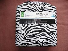 Mainstays Queen Size Soft Microfiber Sheet Set & Wrinkle Resistant 4 Pieces/ NEW