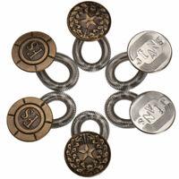 6Pcs Pantalones Extensor Falda Vaqueros Cintura Botón Perfecto  Metal Ajuste