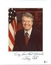 Jimmy Carter Signed Mounted 8x10 Original White House Photo BAS #E37681