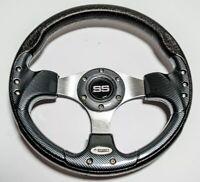 "13"" Steering Wheel Carbon Fiber Sports Style For EZGO CLUB CAR YAMAHA Golf Cart"