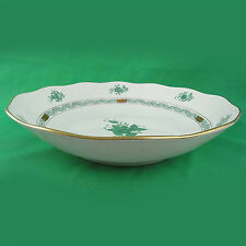 "CHINESE BOUQUET GREEN Herend Vegetable Bowl10"" diameter NEW NEVER USED Hungary"