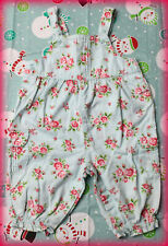 Carters Infant Girl 6 Months Beautiful Blue Floral Roses Cotton Overalls *Euc*