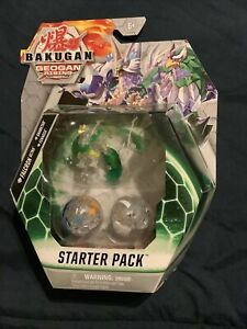 BAKUGAN GEOGAN RISING Starter Pack Diamond Falcron Ultra Sharktar Fenneca Sealed