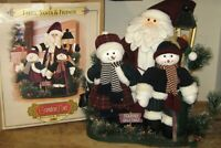 2002 ~ GRANDEUR NOEL LARGE FABRIC 'SANTA & FRIENDS' CHRISTMAS DISPLAY