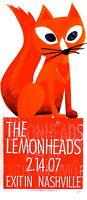 The Lemonheads Concert Poster 2007 Nashville S/N Print Mafia