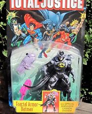 DC Comics JLA Total Justice Figure Fractal Armor Batman W/Shoulder Cannon 1996