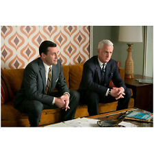 Mad Men Don Draper and Roger Sterling Sitting On Couch 8 x 10 Photo