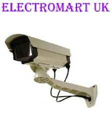 DUMMY CCTV CAMERA OUTDOOR FAKE DECOY SURVEILLANCE LARGE METAL