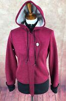 Pearl Izumi Full Hidden Zip Hooded Cycling Fuchsia Jacket Sweatshirt Women's M