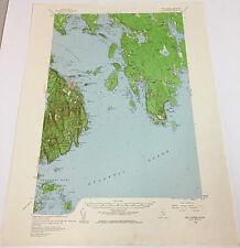 Maine Antique Original Antique North America Topographical Maps Ebay
